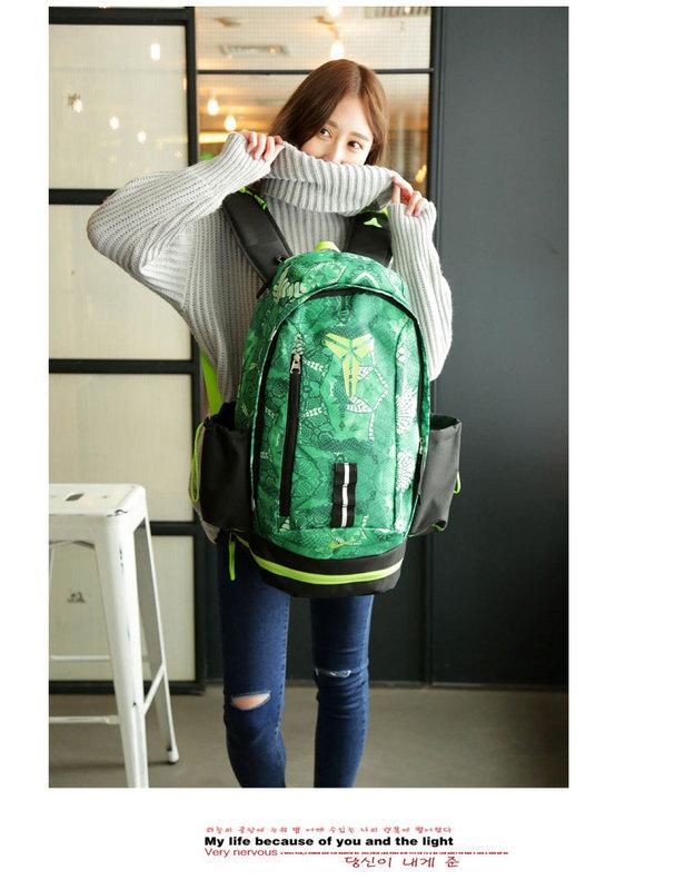 6ba2ab710bf28e2d09aa136377fee50b - Nike Kobe 籃球包 大容量 雙肩包 旅行包 學生書包 鞋袋包 綠色 49*27*19