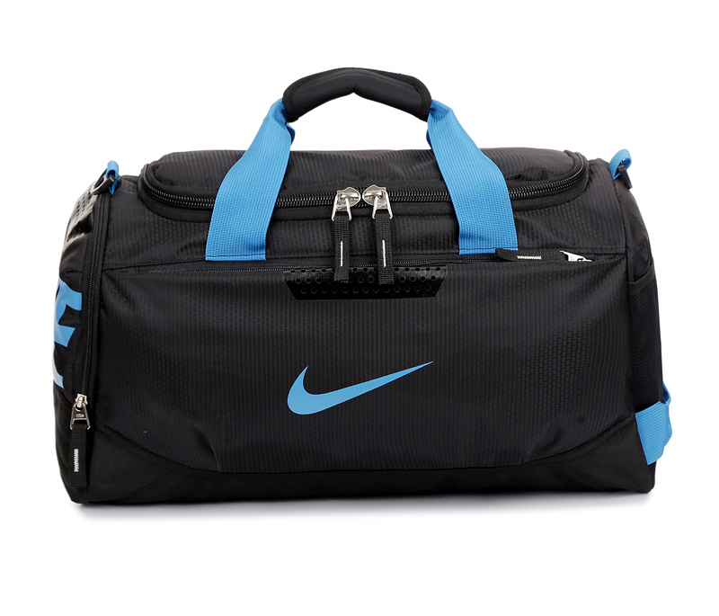 72fdb668e3cf5d2f887415ad6bf51138 - Nike 手提包 旅遊包 大容量 健身包 黑藍 時尚 帆布 寬52*高30*厚24