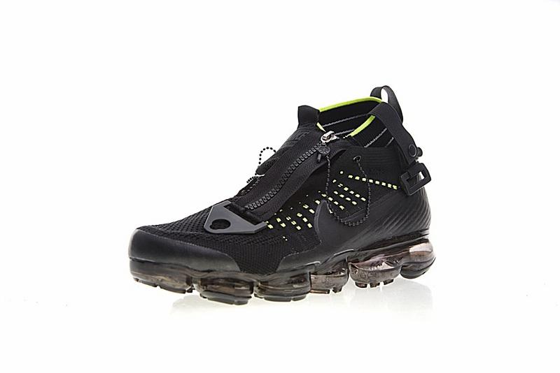 73cce8ebdbf80b04b681f750fded554f - Nike Air VaporMax 機能 拉鏈 中筒 氣墊慢跑鞋 黑綠 男款 休閒 百搭 899473-003