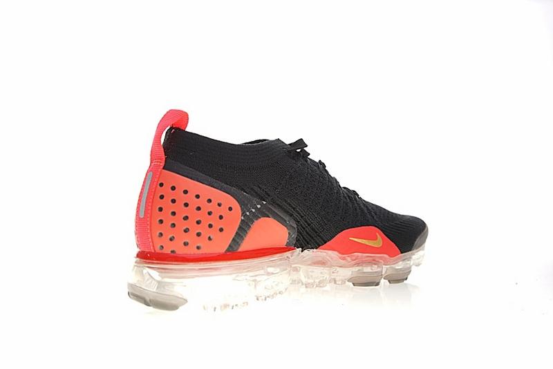 7de21de74cea81e6c04f7ad86721f95e - Nike Air VaporMax Flyknit 2.0 W 二代 大氣墊 黑金桔紅 情侶款 休閒 百搭 942843-005