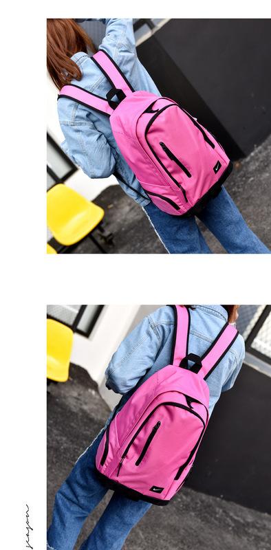 7eaaea34e3b5b2ee3ab7ab42ffe98134 - Nike 豎拉鏈款 雙肩包 運動包 旅行包 帆布包 書包 粉色 時尚百搭 寬30*厚16*高47