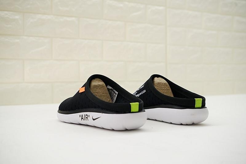 857445579ba7abcb1033488e25f7aaa0 - Offwhite x Nike Air rejuvens3代鳥巢拖鞋 黑色 男款 防滑 時尚 百搭 441377-001