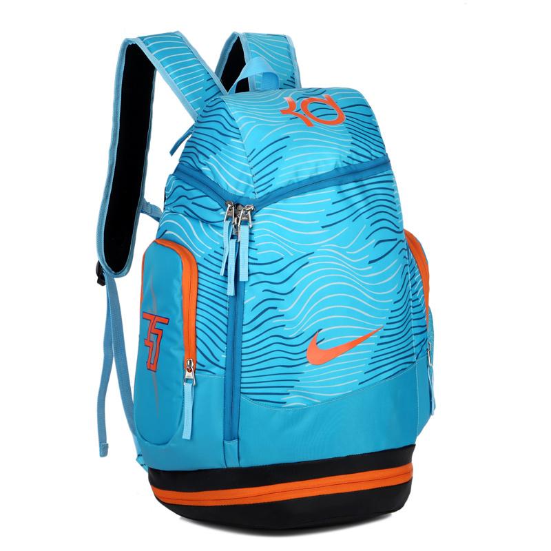8b080abc9b262da2ba26805c38ad5821 - NIKE NBA35號 KD 大容量 雙肩包 水波紋 曲線 健身 籃球包 實用 淺藍 寬32*高55*厚20