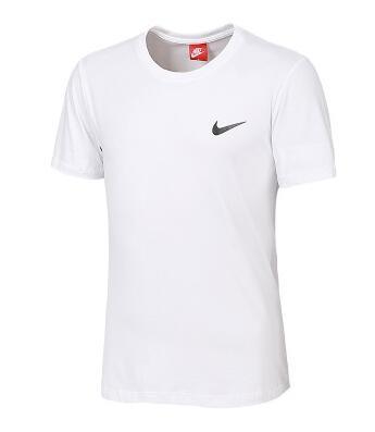 90f47dba5064be06661761cd1b46ee70 - NIKE 夏季新款 基礎 純棉T恤 男款 白色 運動 時尚百搭