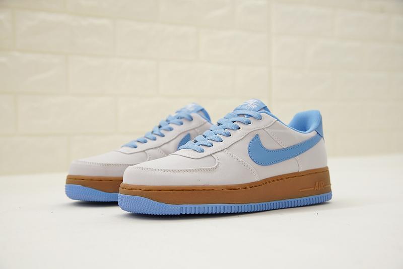 946235ccb03ab0eed2145d4269e107fe - Nike Air Force 1 Low Canvas AF1 帆布 灰藍棕 情侶款 低筒 休閒 百搭 AJ7282-004