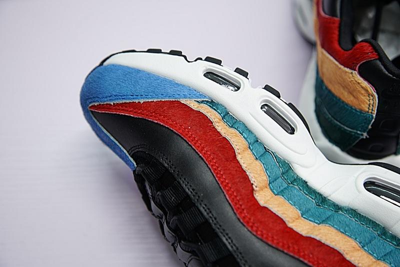 9a246cf7b233a08ac0f9452a53b1f1af - Nike Air Max 95 復古 氣墊 慢跑鞋 棕毛 拼色 伽藍 男款 807443-003