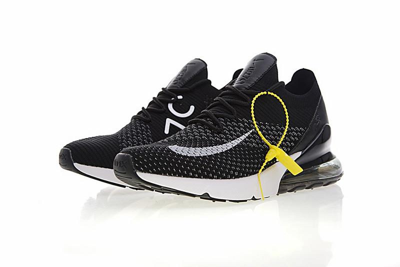 9b91291df0a414d3edb9d11806667fdb - Nike Air 270 Flyknit 飛織 氣墊 慢跑鞋 黑白奧利奧 情侶款 休閒 百搭 AH8050-015