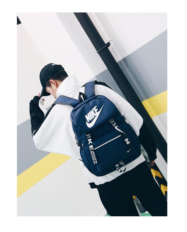 a0bf3524567a8a97b3222a89fabac45c - Nike 大logo 新款 雙肩包 情侶款 學生 書包 藍色 時尚 百搭 NK-61183