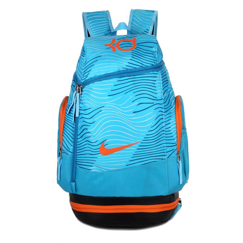 a15ff0f6ca479c074d1800a80f0680f4 - NIKE NBA35號 KD 大容量 雙肩包 水波紋 曲線 健身 籃球包 實用 淺藍 寬32*高55*厚20