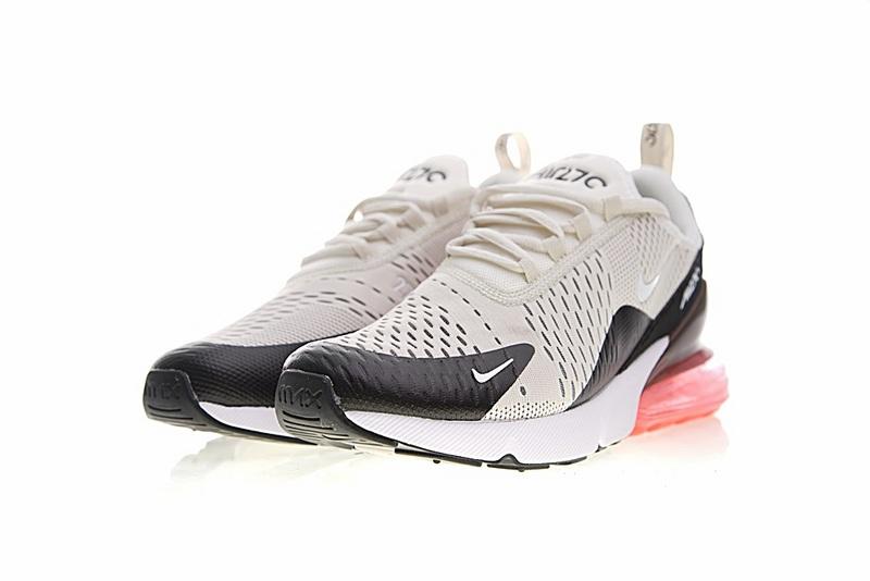 a3dd6e5b706a34978a3d54565cdc1781 - Nike Air Max 270系列 後跟半掌氣墊 慢跑鞋 米白 男款 休閒 百搭 AH8050-003