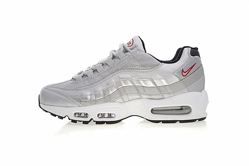 a584d9a3f504ec8c6b50b9d5a468c9fe - Nike Air Max 95系列 復古氣墊慢跑鞋 太空銀白 男款 運動潮鞋 時尚百搭 918359-001