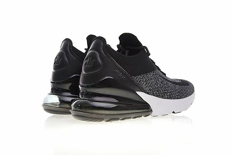 a779593843351e9bae8b502352c744d0 - Nike Air 270 Flyknit 飛織 氣墊 慢跑鞋 黑灰白 透氣 時尚 百搭AO1023-001