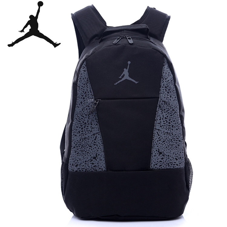 aa9364f1a5bb7fec043f54df990f20fb - Jordan喬丹 雙肩包 書包 帆布 電腦後背包 黑灰 時尚 百搭