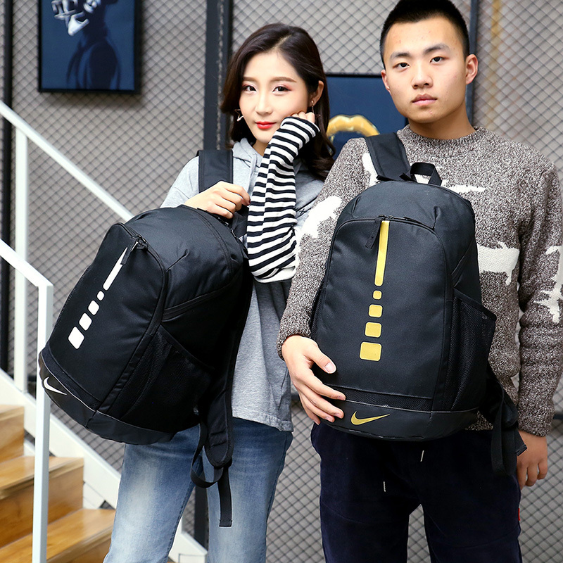 b0c90665fee40c3f559f08fee38c2c4f - 感嘆號 Nike 雙肩包 學生書包 旅行包 健身包 潮流後背包 黑白  45*29*20