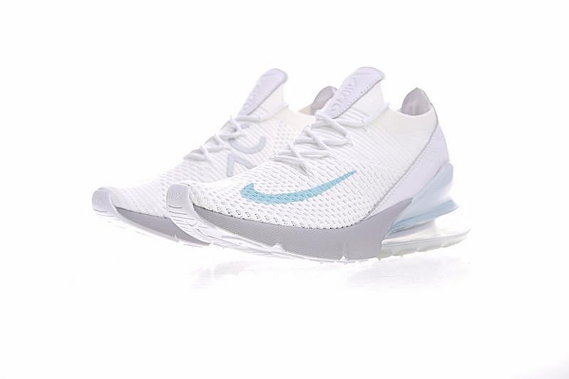 b2b06ae29110dcb29126a293d65e7dfb - Nike Air Max 270 Flyknit 飛線 針織 氣墊 白玉蘭 慢跑鞋 情侶款 時尚百搭 AO1023-100