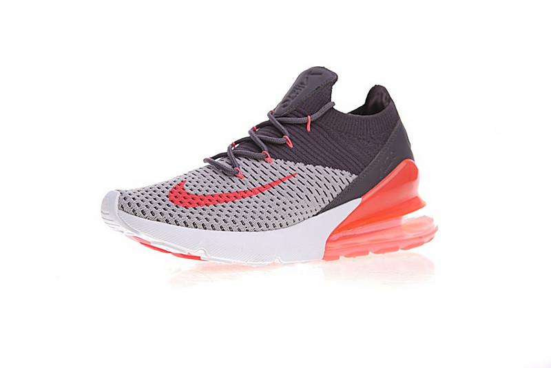 b2cbfd117d65e20d4f18c672cd3cf4e1 - Nike Air 270 Flyknit 飛織 氣墊 深灰桔紅 情侶款 慢跑鞋 時尚 百搭 AO1023-202