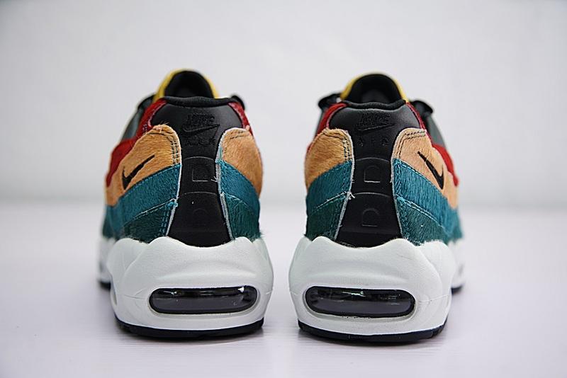 b50e1a857c5150e4437d6aced43c33e9 - Nike Air Max 95 復古 氣墊 慢跑鞋 棕毛 拼色 伽藍 男款 807443-003