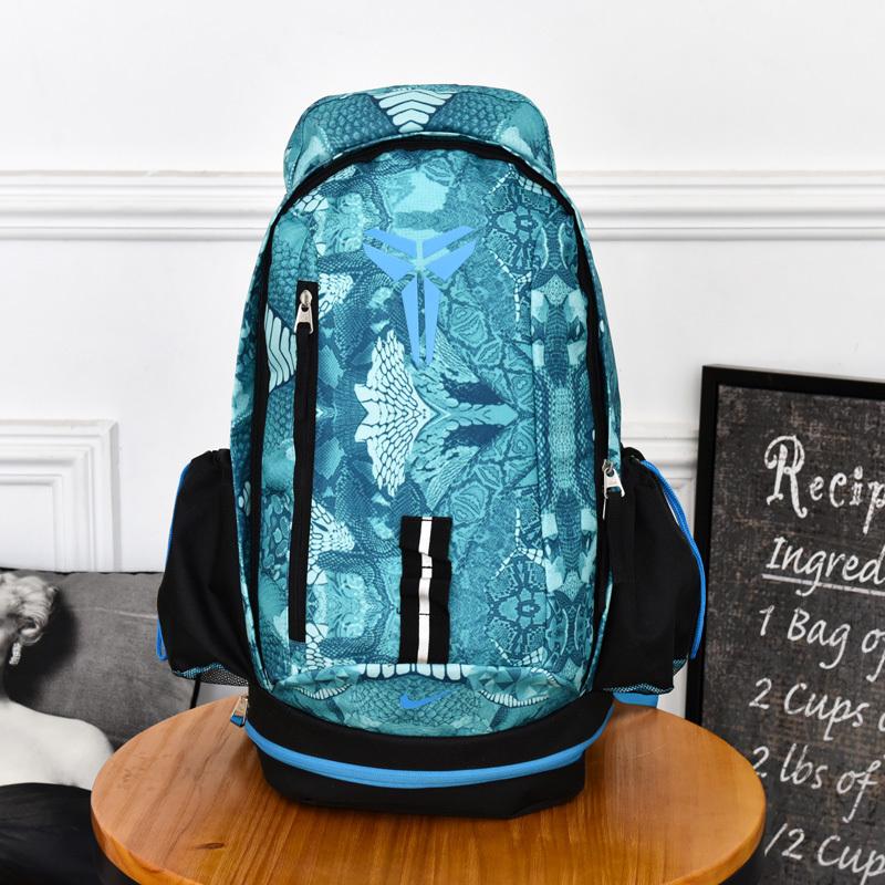b7963abfc2b529106bbafb039dd76e18 - Nike Kobe 籃球包 大容量 雙肩包 旅行包 學生書包 鞋袋包 淺藍 防水 49*27*19