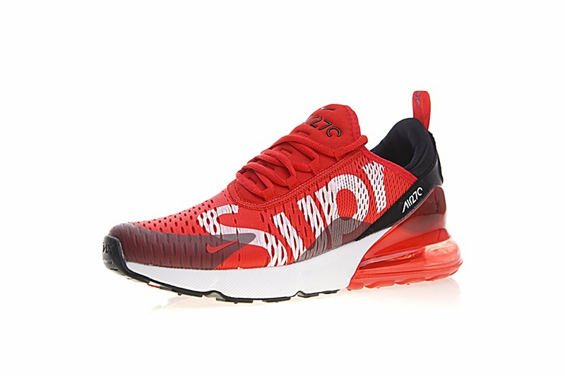 b8373315ec27d804b2a4ccdd743a914e - Supreme x Nike Air Max 270聯名系列 後跟半掌氣墊 慢跑鞋 紅白黑 男款 時尚 百搭 AH8050-610