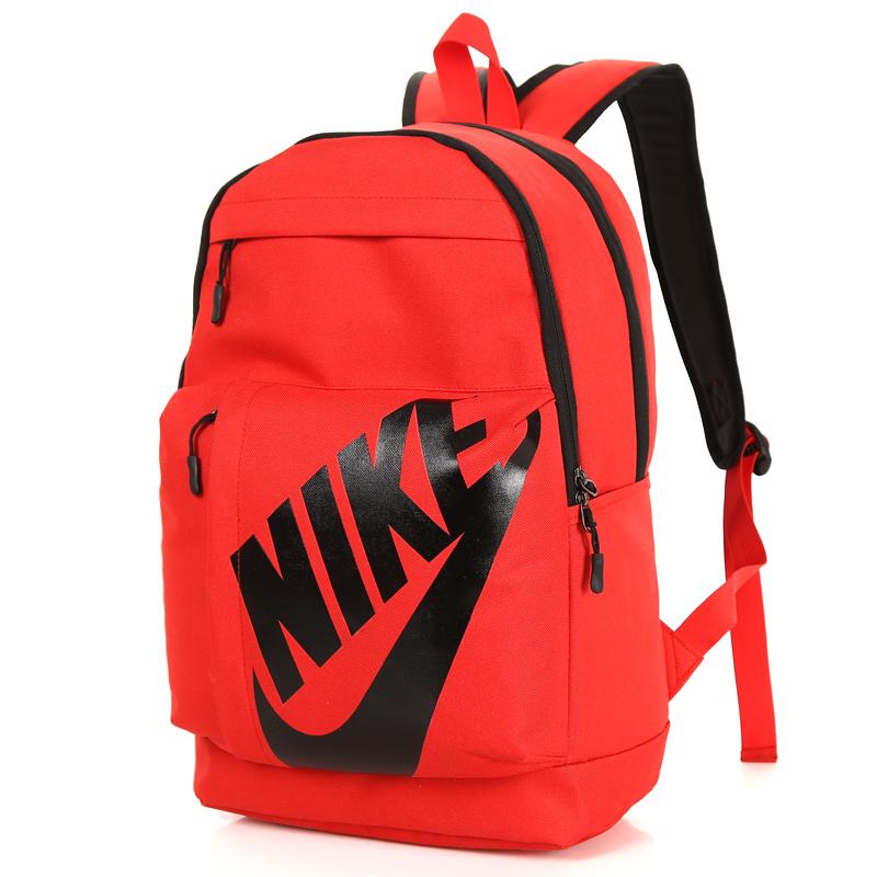 c01fe00cf9d93eb721821ccb92f4fdb1 - NIKE 大LOGO 雙肩包 男女 情侶後背包 學生書包 旅行包 潮流包 紅色 45*2-*15