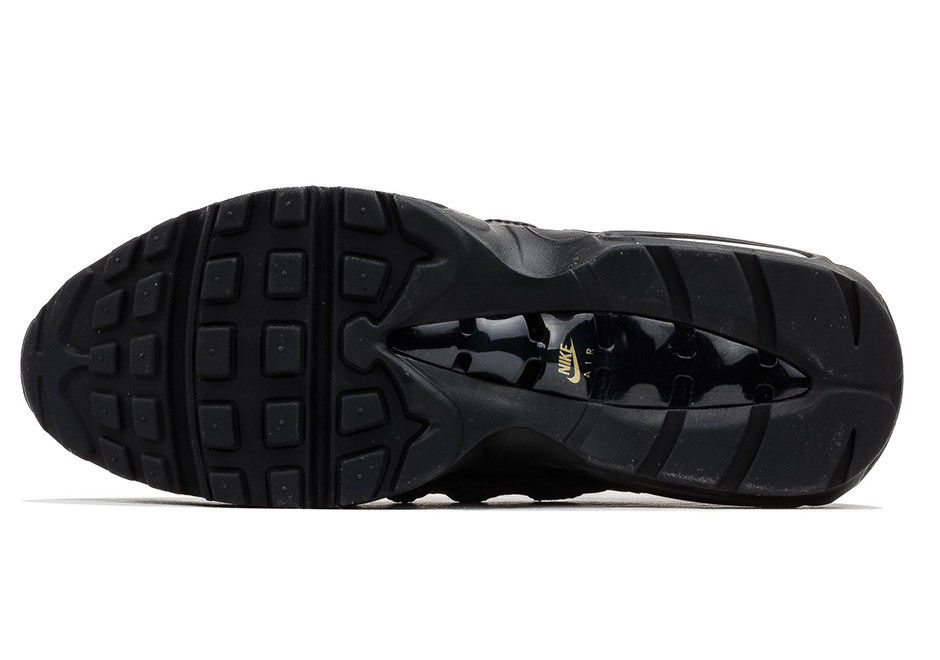 c1876c00c1db5b78912fb5264d198c91 - Nike Air Max 95 復古氣墊慢跑鞋 黑金 男款 時尚百搭 924478-003
