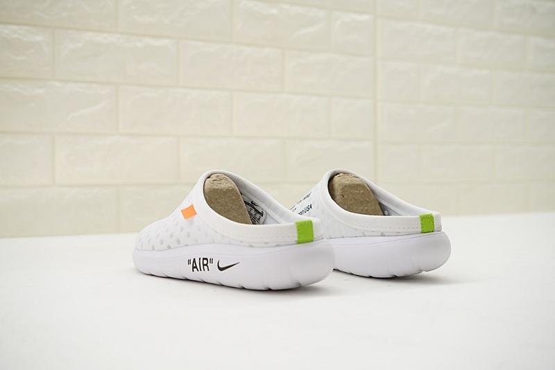 c20be314ced9e203831797065404f6fc - Offwhite x Nike Air rejuvens3代鳥巢 拖鞋 白色 洞洞鞋 男款 441377-002