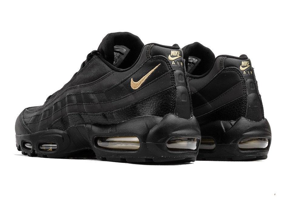c25225b7c9e320ede0a55a33ba9d88d4 - Nike Air Max 95 復古氣墊慢跑鞋 黑金 男款 時尚百搭 924478-003