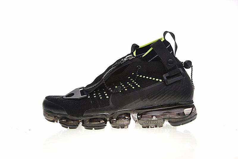 c83b0a07a078e2f8289e650de07ca952 - Nike Air VaporMax 機能 拉鏈 中筒 氣墊慢跑鞋 黑綠 男款 休閒 百搭 899473-003