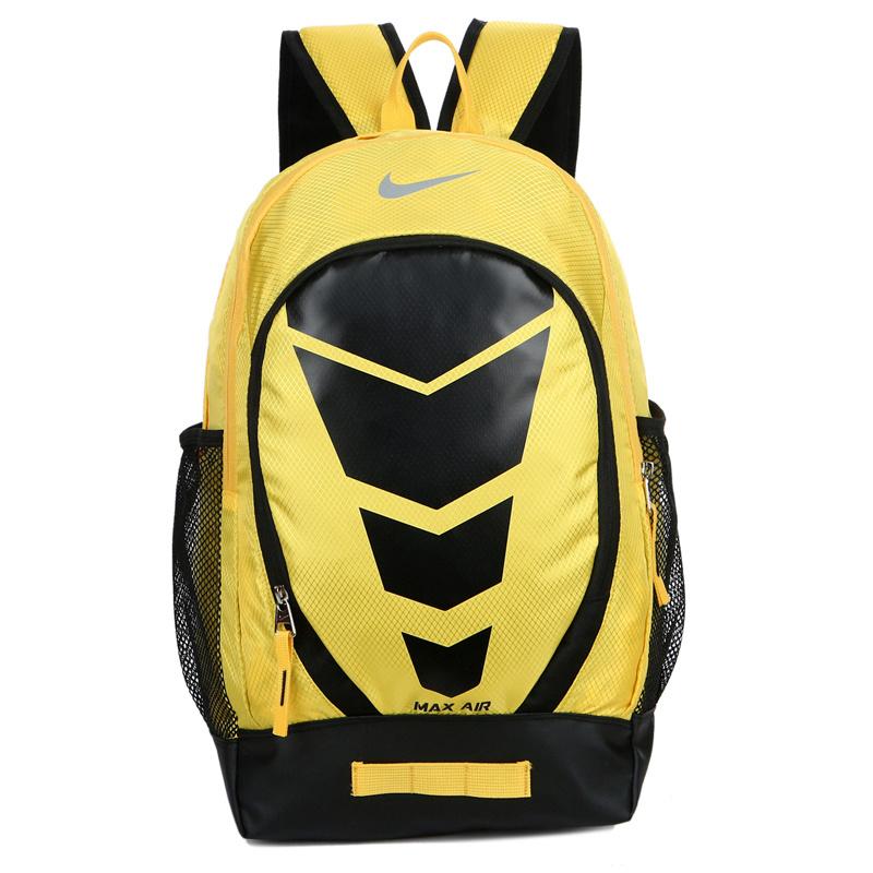 c869d30568b33fdda654a623b0e298d8 - Max Air Nike 雙肩包 學生書包 帆布電腦後背包 旅行包 黃色