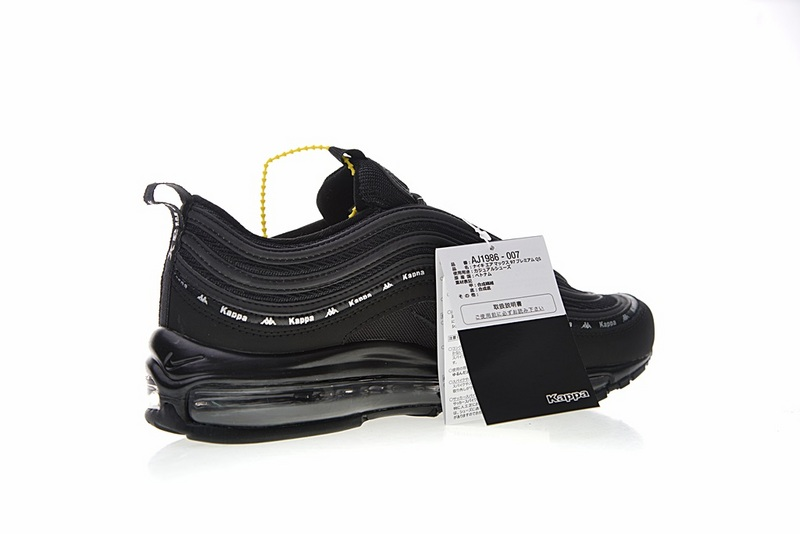 ca4158d2451ebc260c4f5ad57d31e36c - Kappa x Nike Air Max 97系列 百搭 復古 氣墊 慢跑鞋 黑色 情侶款