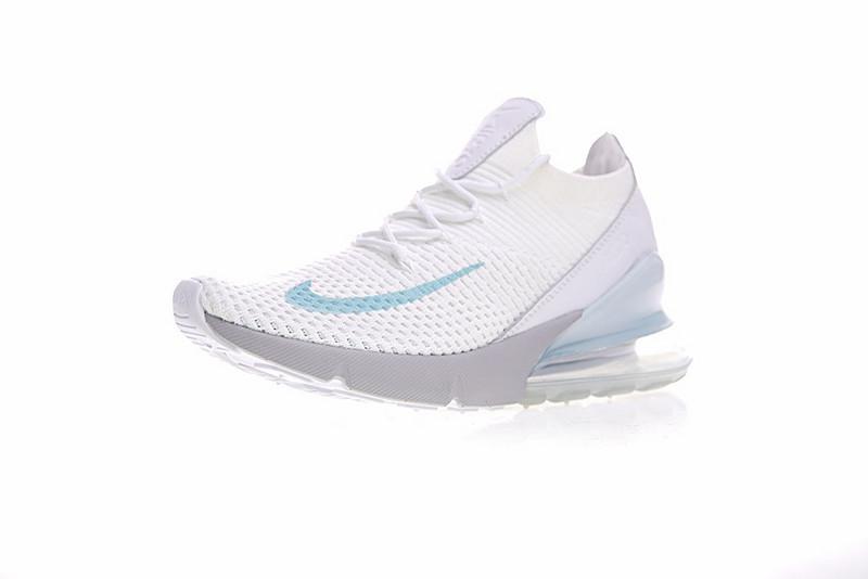 cb7187e2cb49d390d50c8b0128d2ff97 - Nike Air Max 270 Flyknit 飛線 針織 氣墊 白玉蘭 慢跑鞋 情侶款 時尚百搭 AO1023-100