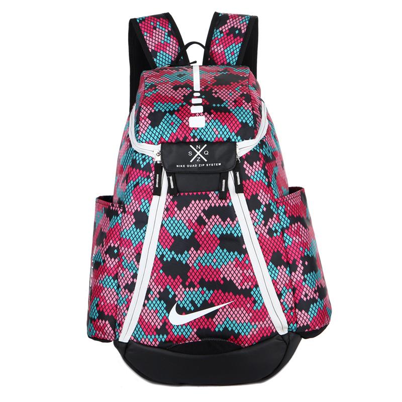 cefe61bb00b8b89e4192a210966dcf78 - Nike 情侶款 雙肩包 大容量運動包 旅行包 鞋袋包 籃球包 粉紅色 時尚百搭 寬38*高50*厚20