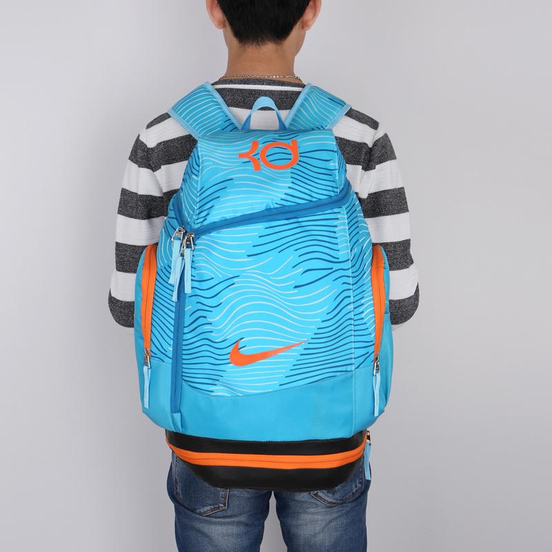 d3709c8001a89a3aa41e715aee3cdce0 - NIKE NBA35號 KD 大容量 雙肩包 水波紋 曲線 健身 籃球包 實用 淺藍 寬32*高55*厚20
