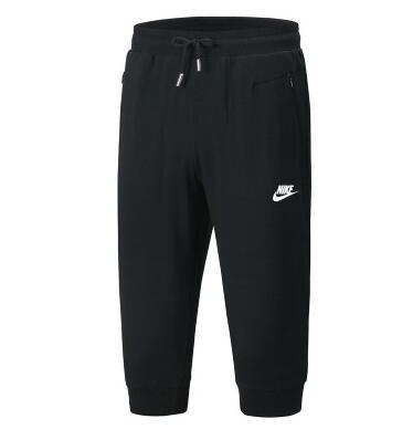 d55545d8c1844c54ec3a5386bf2a1944 - Nike 經典 男款 束口 七分褲 黑色 時尚 百搭 運動短褲