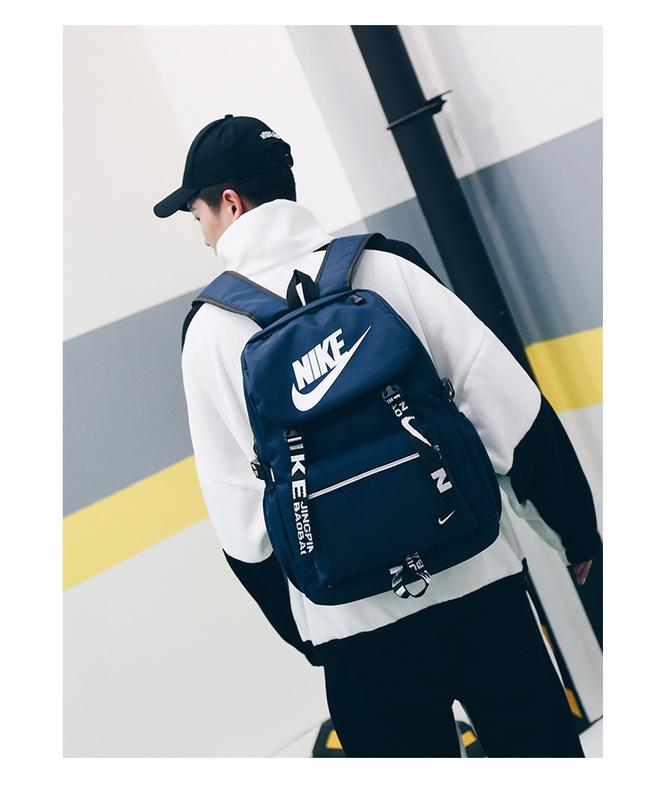 d714b6d848788f767260dad1464b516d - Nike 大logo 新款 雙肩包 情侶款 學生 書包 藍色 時尚 百搭 NK-61183
