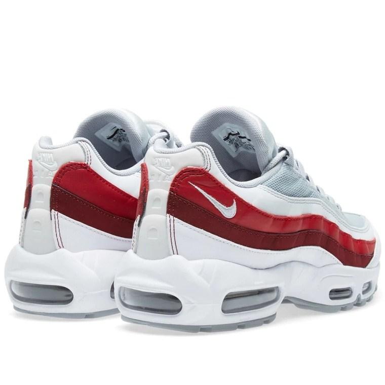 d8eddaf1323b505033fc07d4264ece75 - Nike Air Max 95 Essential 白灰紅 男鞋 氣墊慢跑鞋 時尚 百搭 749766-103