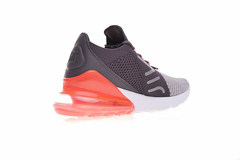 e2f000ed9e3da44c00bf58e48c376e39 - Nike Air 270 Flyknit 飛織 氣墊 深灰桔紅 情侶款 慢跑鞋 時尚 百搭 AO1023-202
