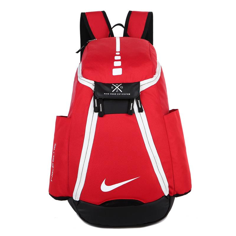 e318b96faba183dd92a97fed0bf25c91 - Nike 情侶款 雙肩包 大容量運動包 旅行包 鞋袋包 籃球包 紅白 寬38*高50*厚20