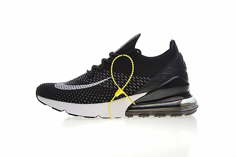 e3fcea162739941f690aaa09c866cd96 - Nike Air 270 Flyknit 飛織 氣墊 慢跑鞋 黑白奧利奧 情侶款 休閒 百搭 AH8050-015