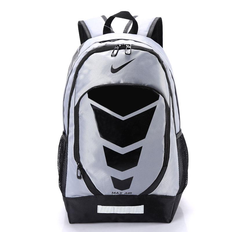e65193c6aa5e7232d44e34c950f4a479 - Max Air Nike 雙肩包 學生書包 帆布電腦後背包 旅行包 灰色 NK-0431