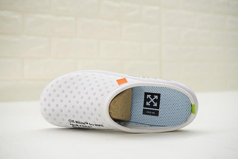 ebcba8299e845107b26e11e3ce067634 - Offwhite x Nike Air rejuvens3代鳥巢 拖鞋 白色 洞洞鞋 男款 441377-002