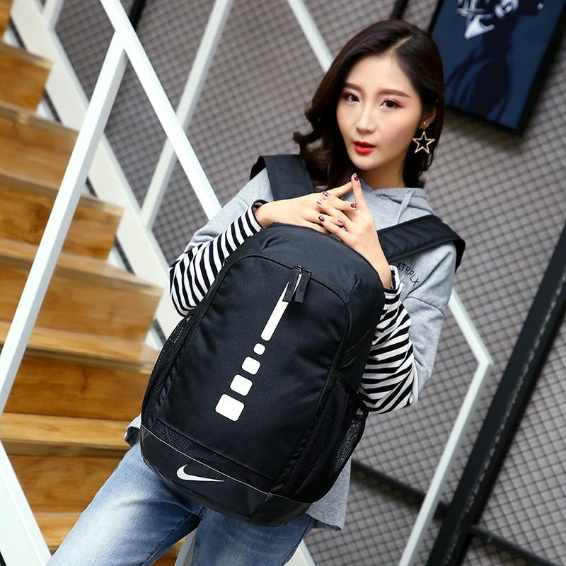 ec3f897ff6f8d2fd766dd56734813ecf - 感嘆號 Nike 雙肩包 學生書包 旅行包 健身包 潮流後背包 黑白  45*29*20