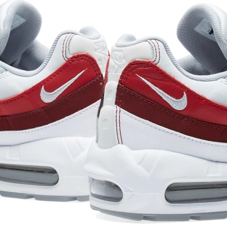 ec48ec1d1d1f73e6dc0cc93a0f8c5109 - Nike Air Max 95 Essential 白灰紅 男鞋 氣墊慢跑鞋 時尚 百搭 749766-103