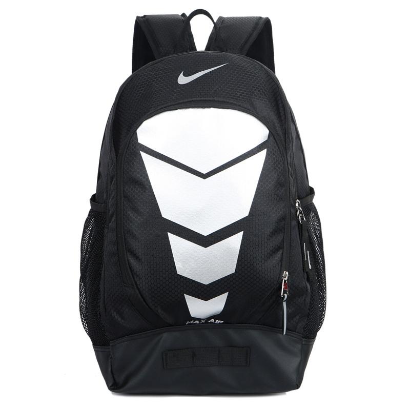 ed01d22e5ddd31ff3f5b769610a05433 - Max Air Nike 雙肩包 學生書包 帆布電腦後背包 旅行包 黑銀色