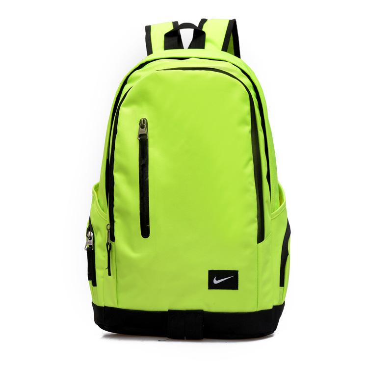 f6c927918659db2aa7dfac45b2a00b73 - Nike 豎拉鏈款 雙肩包 運動包 旅行包 帆布包 螢光綠 時尚百搭 寬30*厚16*高47