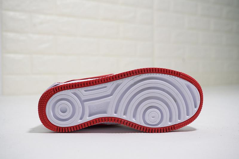 0767a0f3248464f83b98bf356402b04a - Nike Wmns Air Force 輕量 厚底增高 低幫 百搭 板鞋 女生 白紅色-熱銷NO1❤️