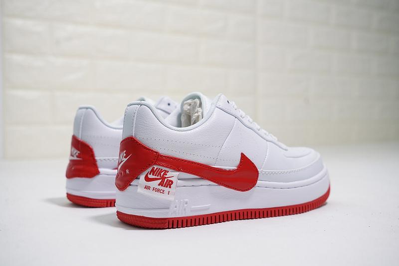 079d494b00957a6d5a01d8d924c6b3f6 - Nike Wmns Air Force 輕量 厚底增高 低幫 百搭 板鞋 女生 白紅色-熱銷NO1❤️