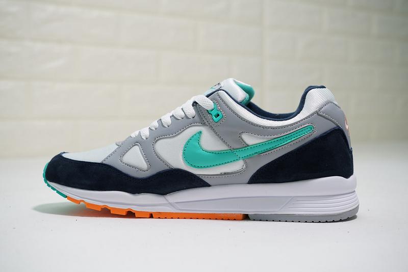 1443ceee2c19b4666d9a0e91cbd4bc38 - Nike air span 2 男子 跑步鞋 黑白灰 綠鉤 透氣 舒適 時尚-熱銷推薦❤️