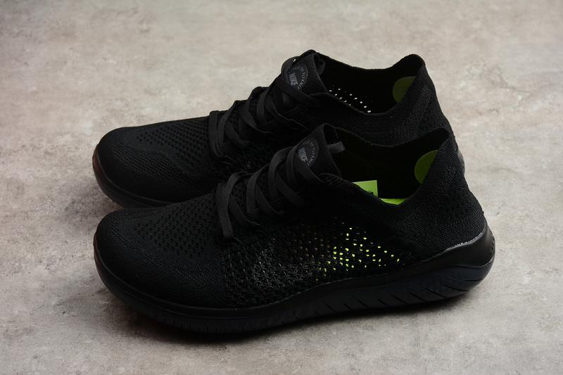 1b7df7e2041750eea8607674aa5ab65f - Nike Free rn Flyknit 2018款 男子 赤足 輕便 飛線 全黑 跑步鞋-限時特賣❤️