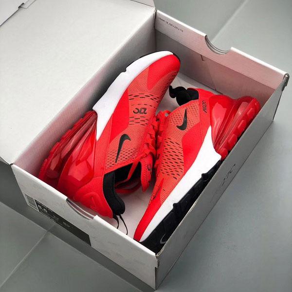 1ef8aa51f14d6700cfaad339f3ad343b - Nike Air Max 270陳冠希同款 大紅 半掌氣墊慢跑鞋 情侶款-最高品質❤️